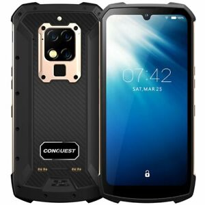 "Conquest S16 Rugged Waterproof 6.3"" Android Phone 8Gb + 256Gb Infrared UV Sensor"