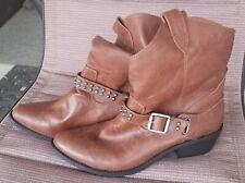 "NEW! Women's SZ 11M MOSSIMO Brown Tan Fashion/Cowboy Boots-1.5"" Heel"