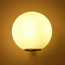 Modern White Globe Glass Gold Lamp Shade LED Light Indoor Wall Light Sconce Deco