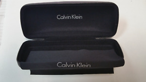 """CALVIN KLEIN SUNGLASS CASE BLACK WITH CLEANING CLOTH - NEW  6.25"""" X 2.5"""" X 1.75"""""""