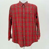 ORVIS Red & Multicolor Plaid Button Shirt Men's Size Medium