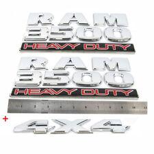 3x OEM Chrome RAM 3500 HEAVY DUTY  Plus 4x4 Dodge Emblems Badge 3D F1 Mopar