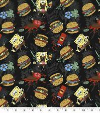 Spongebob Squarepants Krabby Patty Fabric Diy Novelty 100% Cotton Fabric