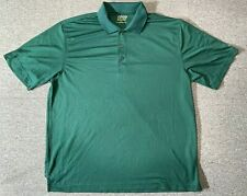 IZOD Perform X Shirt Mens Adult Large Size Green Golf Short Sleeve Collared L