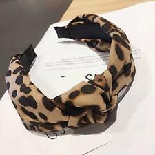 Print Headband for Women Girls - Wide Striped Knotted Bow Headbands