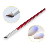 1Pc Nail Art Gradient Dizzy Dye Brush  Wood Handle Angle Manicure Tools DIY