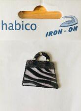 Habico Black & White Bag / Handbag Iron on Motif Patch Child Adult Embellishment