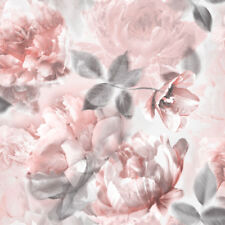 MURIVA LIPSY RED FLORAL FLOWER SILVER GLITTER QUALITY DESIGNER WALLPAPER 144031