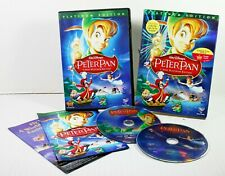 Peter Pan Platinum Edition DVD 2 Disc Kids Family Animated 2007 Sleeve Jacket