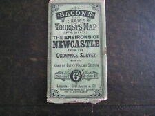 VINTAGE BACONS NEW TOURIST MAP THE ENVIRONS OF NEWCASTLE