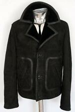 John Galliano Black Shearling Leather Jacket EU48 Medium RRP£1145 Coat sheepskin