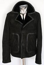 John Galliano Black Shearling Leather Jacket EU48 Medium RRP£1145 Coat sheepskin