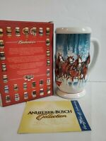 """2007 Budweiser Holiday Stein~New in Box w COA~Vintage~""""Winter's Calm"""""""