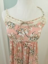 Vintage Christian Dior Robe Set Floral pink peach lilly motif nightgown small