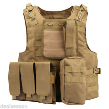 Battle Tactical Military Airsoft Combat Assault Plate Carrier Vest Yellow