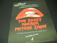 ROCKY HORROR PICTURE SHOW 1978 Promo Poster Ad ...not JAWS ...not ROCKY mint con