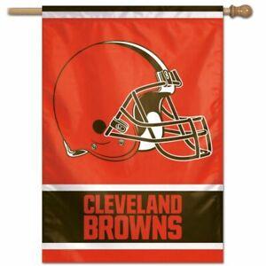 """CLEVELAND BROWNS 28""""X40"""" HOUSE FLAG BANNER NFL LICENSED USA SELLER"""