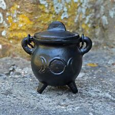 Small Triple Moon Cast Iron Cauldron Wiccan Supplies Pagan Gift Witchcraft