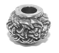 Pewter Borre Style Viking / Celtic Beard Bead Ring - dreadlock hair