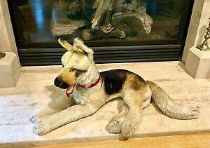 "Vintage 1950s Steiff  HUGE Arco German Shepherd Dog 30"" 76cm w/ Button + Tag"
