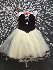 Maroon and Yellow Dress Halloween Dance Costume Princess Used Once Tulle Skirt