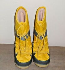 Marc Jacobs Snow Moon Boots Size Large YELLOW WITH GRAY Stripe