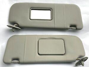 03-08 Pontiac Vibe GT Toyota Matrix Sun Visors Vinyl with Vanity Mirror Gray 04