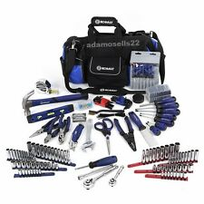 KOBALT 230pc HOUSEHOLD TOOL SET SOCKETS PLIERS SCREWDRIVERS HAMMER ALLEN LEVEL..