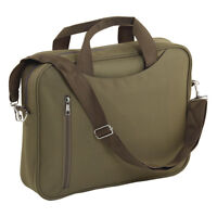 Padded Laptop Bag Notebook Computer Carry Case Shoulder Khaki Unisex Brand New