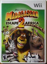 Nintendo WII Madagascar Escape 2 Africa Kids Cartoon Family Complete NICE DISC