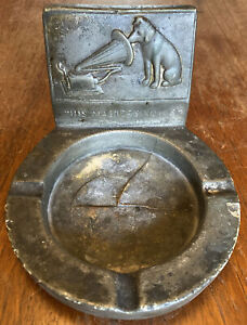 Very Rare Vintage HMV His Master's Voice Cast Iron Ashtray, One-Off Collectible