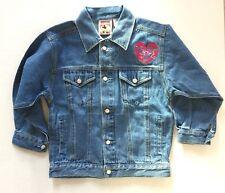 Minnie Mouse denim jacket Girl Kid size Small 4-6 embroidered WDW Kids Disney