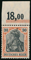 DR 1905, MiNr. 89 I x P OR, tadellos postfrisch, FA Jäschke-L., Mi. 600,-