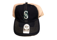 NWT New Seattle Mariners '47 Brand Logo Clean Up Trucker Adjustable Hat