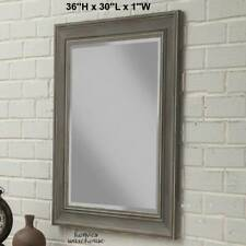 Large Wall Mirror Decor Antique Gray Frame Farmhouse Bathroom Vanity Living Room