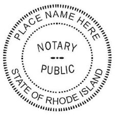New listing State of Rhode Island| Custom Round Self-Inking Notary Public Stamp Ideal 400R