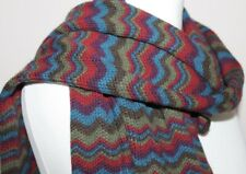 MISSONI multicoloured zig-zag knit scarf