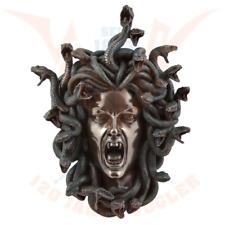 Medusa's head wall relief small 18cm cold cast bronze by Veronese.Impressive.
