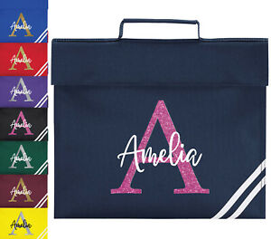 Personalised School Book Bag Childrens Boys Girls Any Name Glitter PE Kit Gift