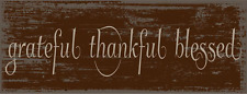Grateful Thankful Blessed Metal Sign, Christian, Inspirational, Home décor