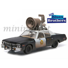 GREENLIGHT 86423 BLUES BROTHERS BLUESMOBILE 1974 DODGE MONACO 1/43 with HORN