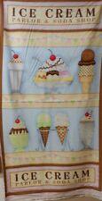 """1 Spx What's the Scoop Ice Cream Fabric Panel 24"""" x 44"""""""