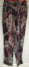 """River Island"" Women's Harem Trousers, Size 14, Pompom ankle detail, Immaculate"