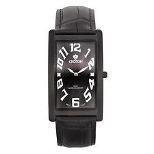Croton Men's CN307533BKBK Aristocrat Stainless Steel Black Rectangular Watch