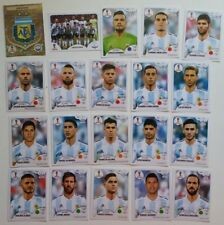 ARGENTINA Messi  Panini Fifa Soccer World Cup Russia 2018 Team Set 20 Stickers