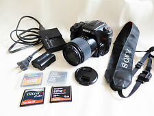 Sony Alpha DSLR-A100 10.2 MP Digital SLR Camera  Black  DT 18-70mm Macro lens