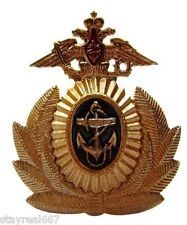 Genuine Russian Post Soviet Navy Officer Cap Anchore Insignia Badge Cockade