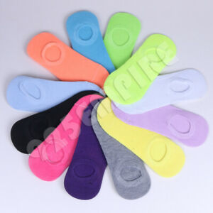 Lot 12 Pairs Women's No Show Low Cut Ankle Liner InvisibleCotton Socks Size 9-11