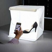 """Light Room Mini Photo Studio 9"""" Photography Lighting Tent Kit Backdrop Cube Box"""