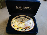 2002 CVGA Champion New Mexico rodeo trophy championship buckle